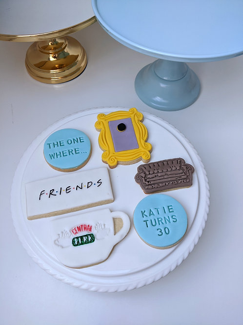 """""""The One Where..."""" Personalised Cookie Set"""