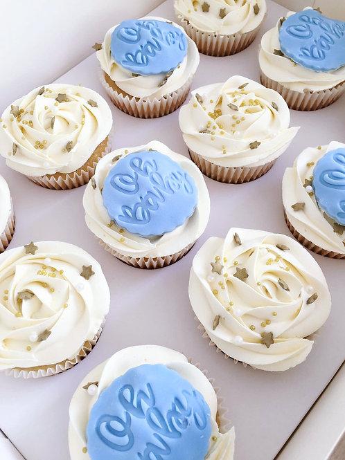 Embossed Sprinkle Cupcakes