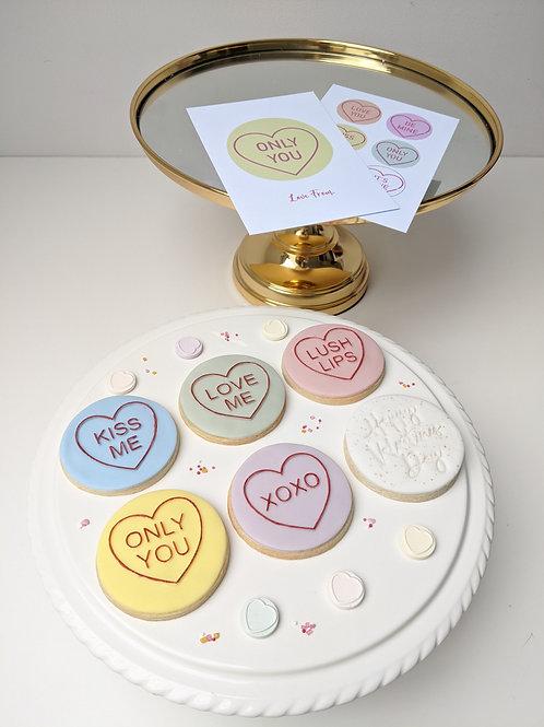 'Love Heart Sweet' Cookie Set