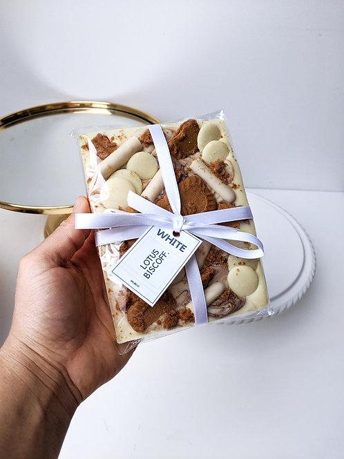 Lotus Biscoff White Chocolate Slab
