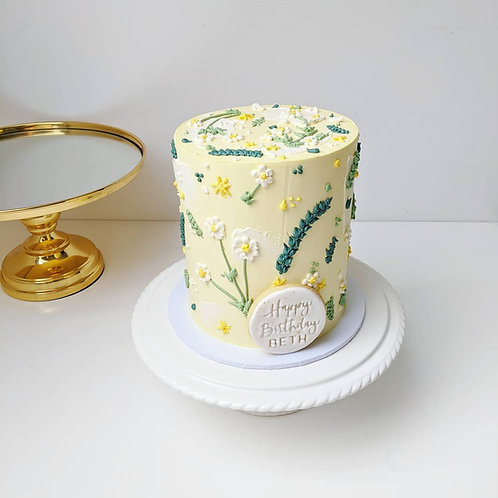 Buttercream Floral Cake
