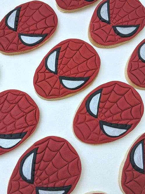 Spiderman Mask Cookies