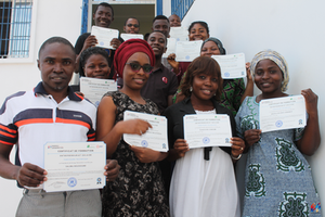Group photo after the certificates given to the learners of session 1 of the training in solar entrepreneurship at Energy Generation