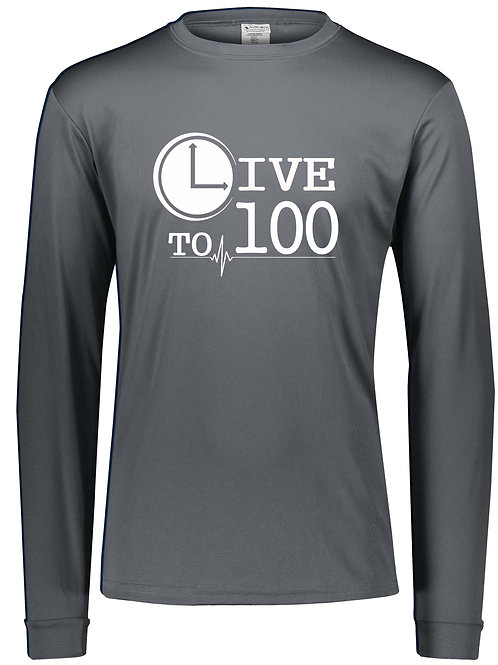 Live To 100 Silver Performance Long Sleeve