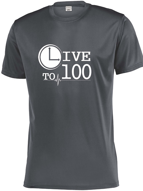 Live To 100 Graphite Performance Tee