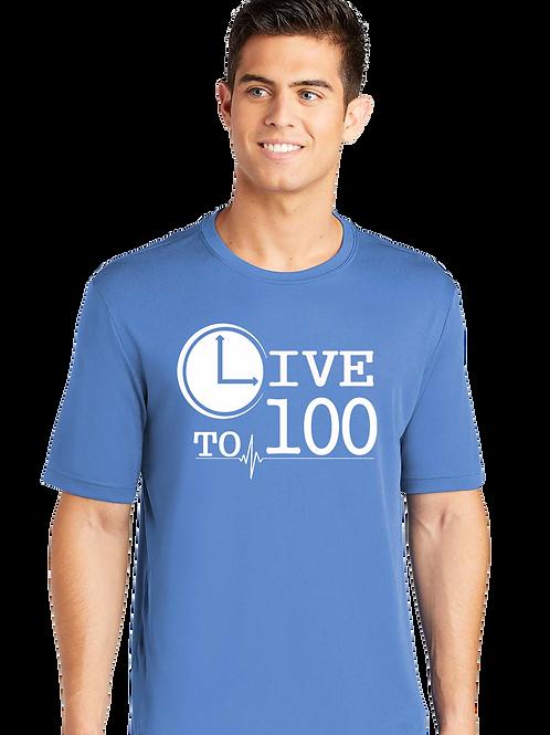 Live To 100 Competitor Tee - Carolina Blue