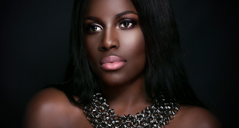 black bridal makeup artist