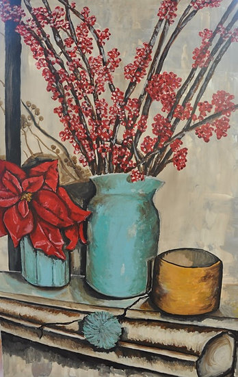 THE VASE AND THE RED FLOWER - Peretto Magali