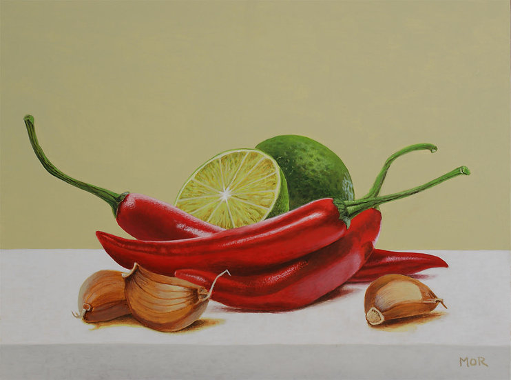 CHILI, LIMES AND GARLIC - Dietrich Moravec