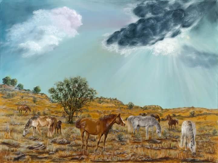 HORSES ON THE PRAIRIE - Linda Kinney