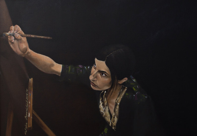 SELF-PORTRAIT AS THE ALLEGORY OF PAINTING - Natalie Papamichael