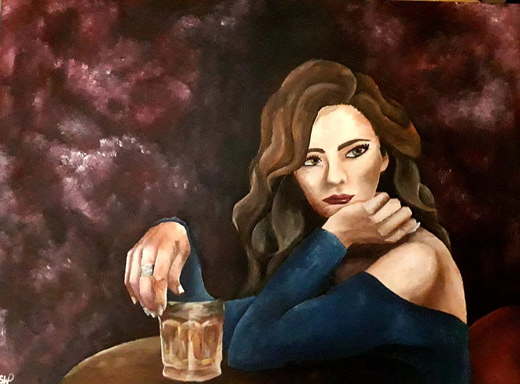 LADY IN BAR - Samantha Woodhouse