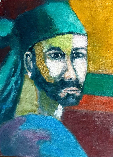 MAN WITH GREEN HAT - Alan Forster