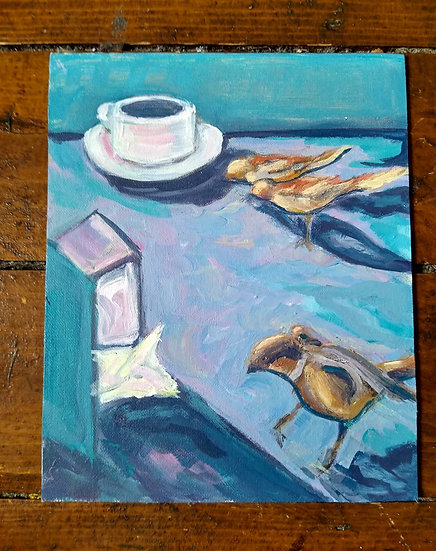 RETIRO CAFE BIRDS - DAY BEFORE COVID LOCKDOWN - Nina Hawkshaw