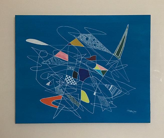 SQUIGGLE IN BLUE - Steven Ogley