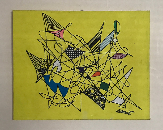SQUIGGLE IN YELLOW - Steven Ogley