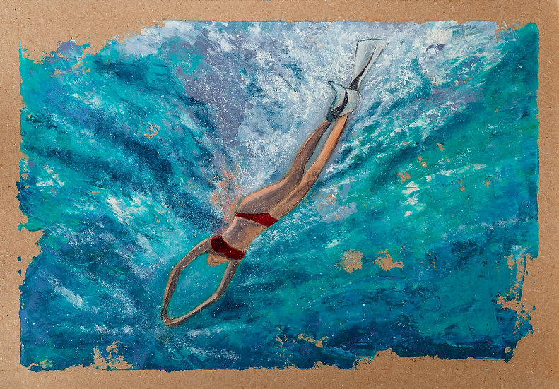 THE SWIMMER - Lucy Oak