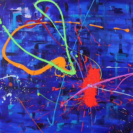 BLUE ABSTRACT  - Joseph J Walker