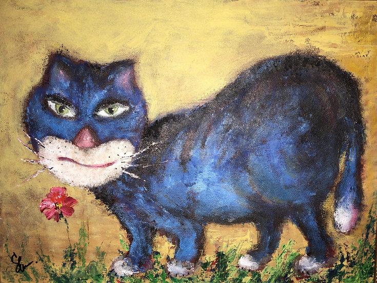 A CAT THAT LIKES FLOWERS - Zhanna Shishova