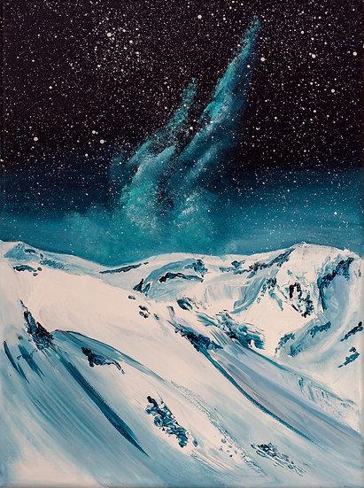 SNOWY MOUNTAINS & BLUE NEBULA - Lucy Oak