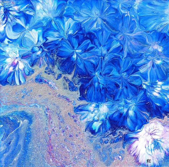 FLOWERS BY THE RIVER - ReCreative Artwork
