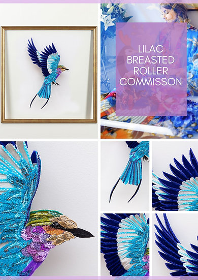 LILAC BREASTED ROLLER - Lily Adele