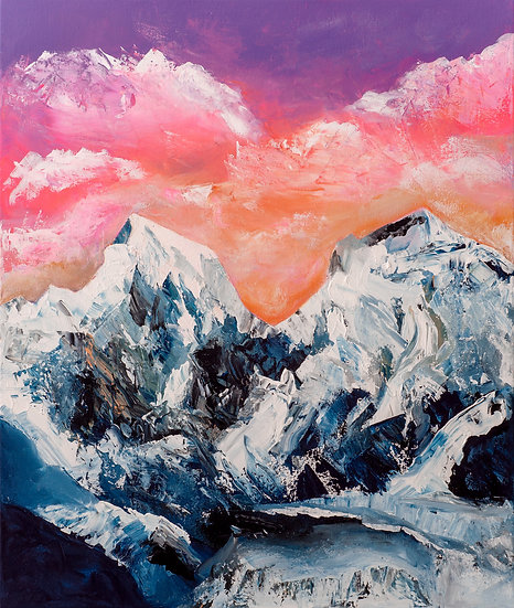 SNOWY MOUNTAINS AT SUNSET - Lucy Oak