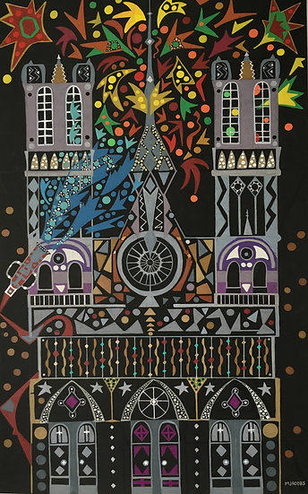 NOTRE DAME IN FLAMES - Mike Jacobs