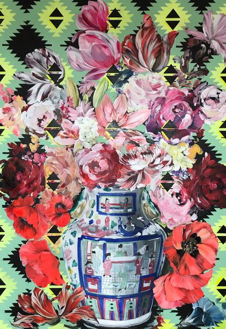 Flowerstudy with Chinese Vase