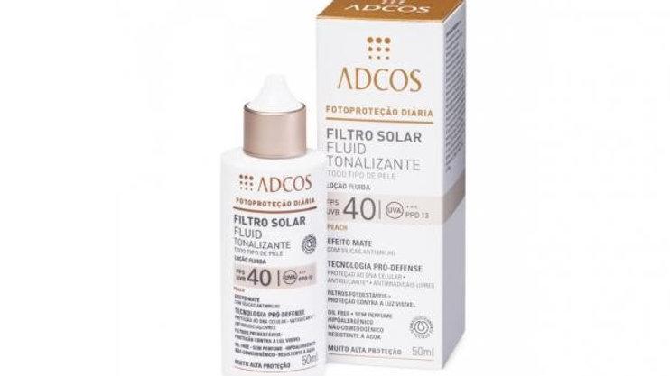 ADCOS - Filtro Solar Fluido - Incolor - FPS40 - 50ml