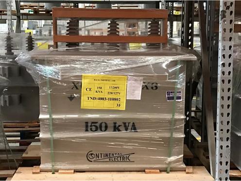 Transformador Continental Electric 150 Kva Poste Trifásico 13200 220/127