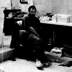 1999 Bragoni in laboratorio a Carrara
