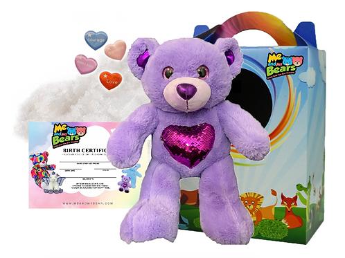 Purple Easter Glitz Bear