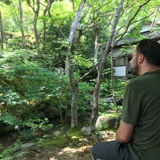 Guest finding his zen in Arashiyama