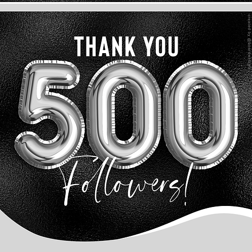 500 FOLLOWERS - SILVER
