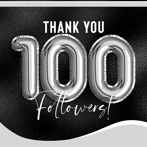 100 FOLLOWERS - SILVER
