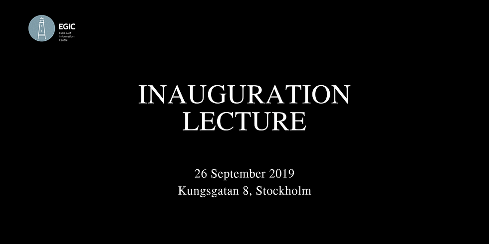 Inauguration Lecture - 26 September 2019