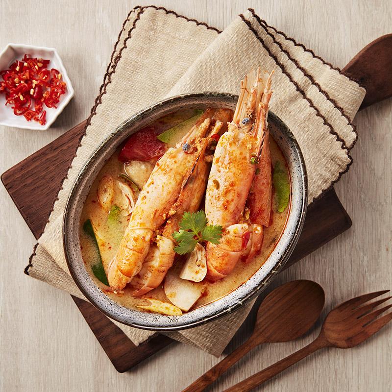 Red Tom Yum River Prawn Soup