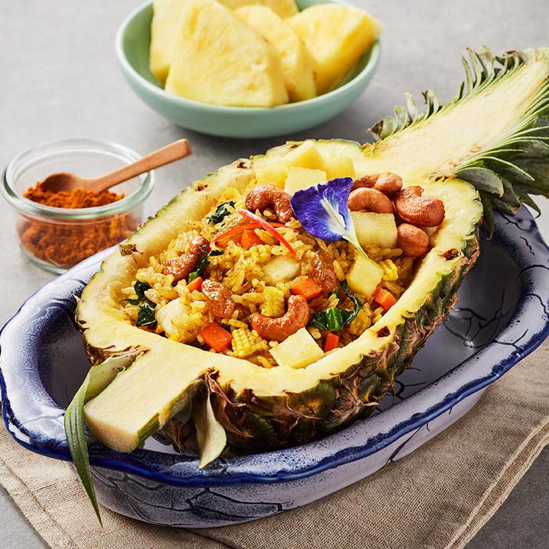 Vegetarian Pineapple Fried Rice