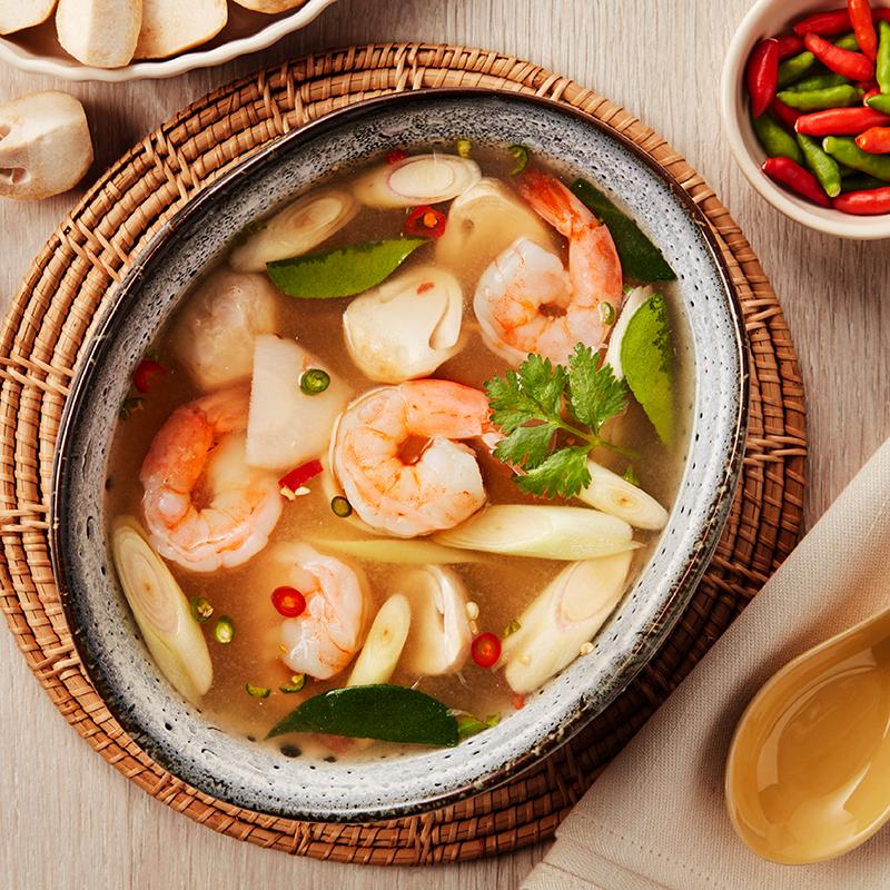 Tom Yum Shrimp Clear Soup