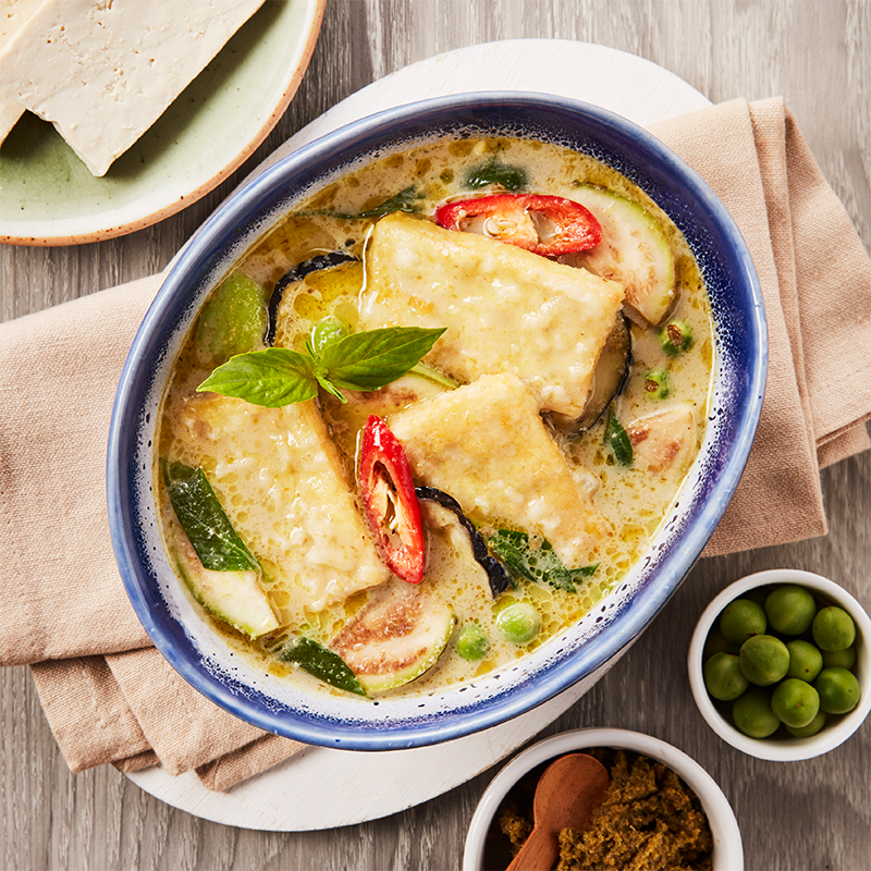 Green Curry with Tofu and Eggplant