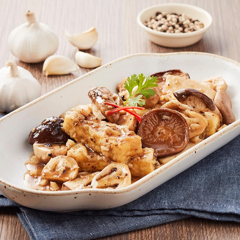 Mushroom Trio Stir Fried in Garlic