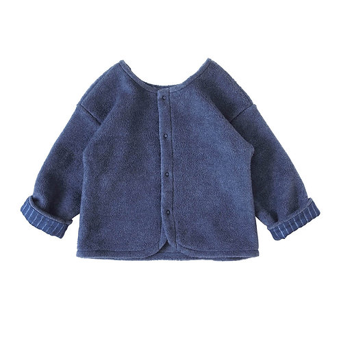 NAOMI ITO FLEECE CARDIGAN NAVY