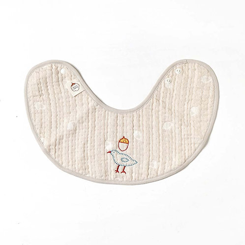 HOPPETA ORGANIC 6-LAYER CLOUD COTTON BIB BIRD