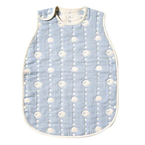 HOPPETA 6-LAYERED CLOUD COTTON SLEEPER BLUE DOT KIDS SIZE