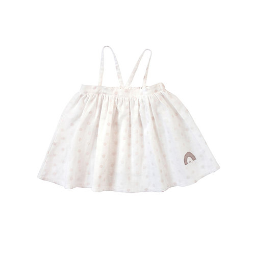 NAOMI ITO 2-WAY CAMI DRESS WHITE DOT