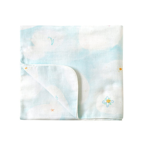 copy of NAOMI ITO LARGE CLOUD COTTON SWADDLE/BLANKET BLUE SKY