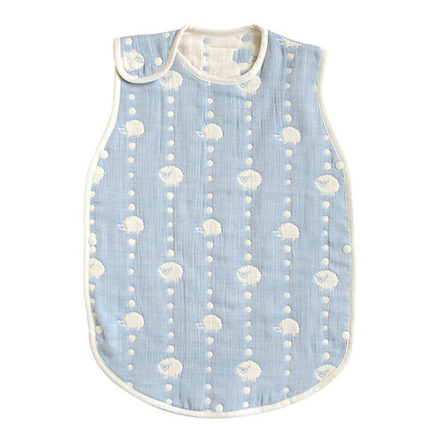 HOPPETA 6-LAYERED CLOUD COTTON SLEEPER BLUE DOT BABY SIZE