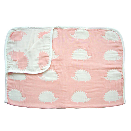 HOPPETA 6-LAYERED CLOUD COTTON BLANKET MOLE PINK