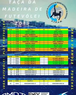 Calendário da Taça da Madeira de Futevól